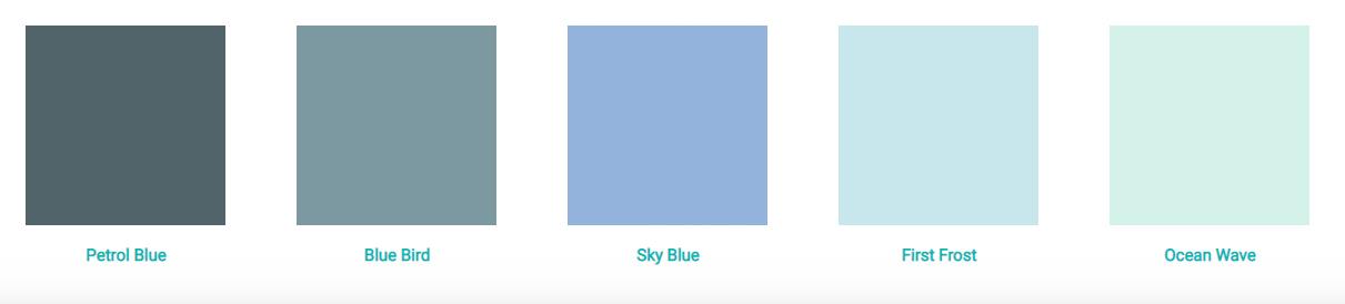 Bảng màu AluSplah màu xanh