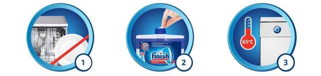 Chai dung dịch vệ sinh máy rửa chén Finish 250ml