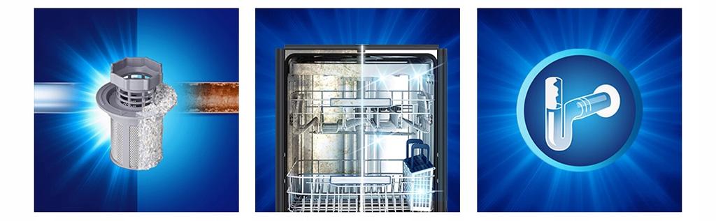 Chai dung dịch vệ sinh máy rửa chén Finish 250 ml