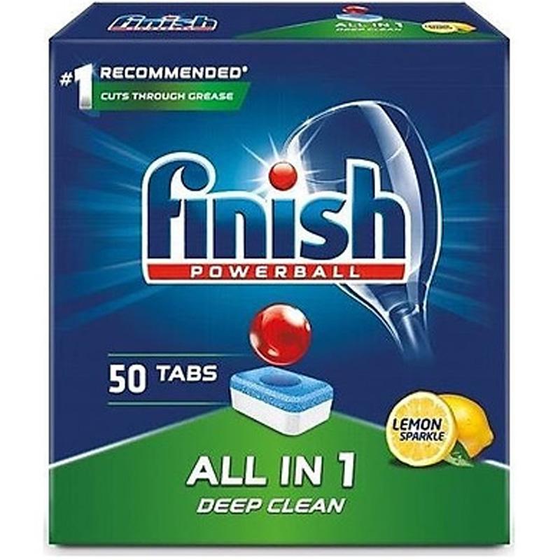 Hộp viên rửa chén finish All in 1 50 viên