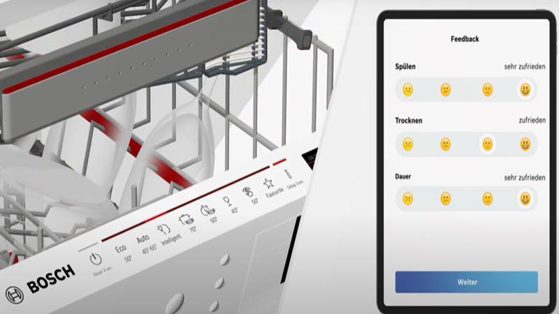 Anh máy rửa chén Bosch intelligent Programme