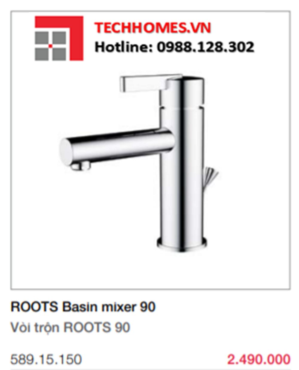 Bộ Trộn Roots 90 Có Bộ Xả Kéo Hafele 589.15.150