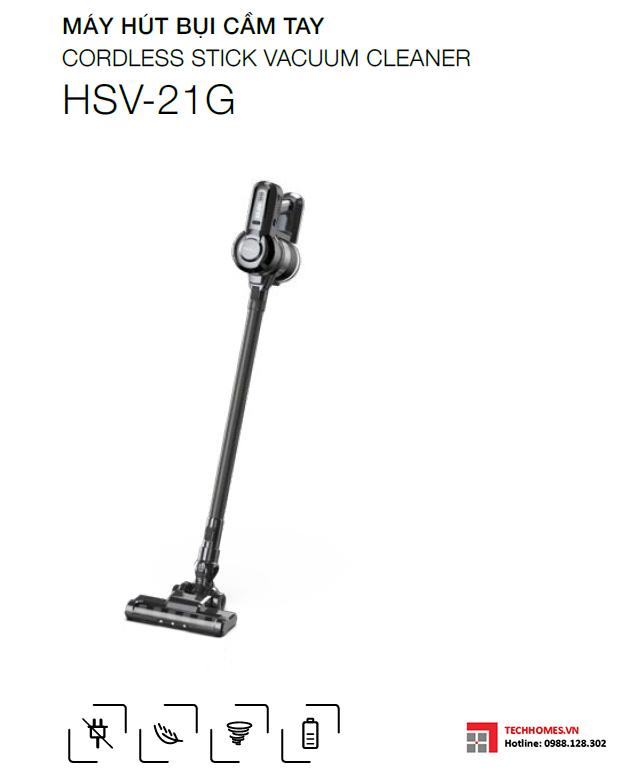 MÁY HÚT BỤI CẦM TAY HSV-21G, máy hút bụi hafele 535.43.079