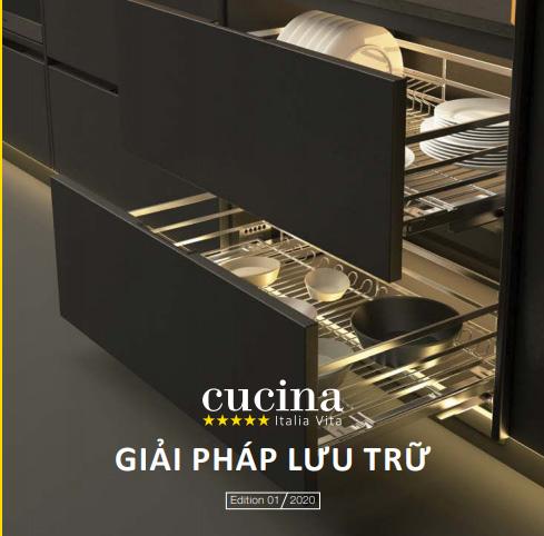 Phụ kiện kệ tủ bếp CUCINA - HAFELE Nhập khẩu Italy Chính Hãng